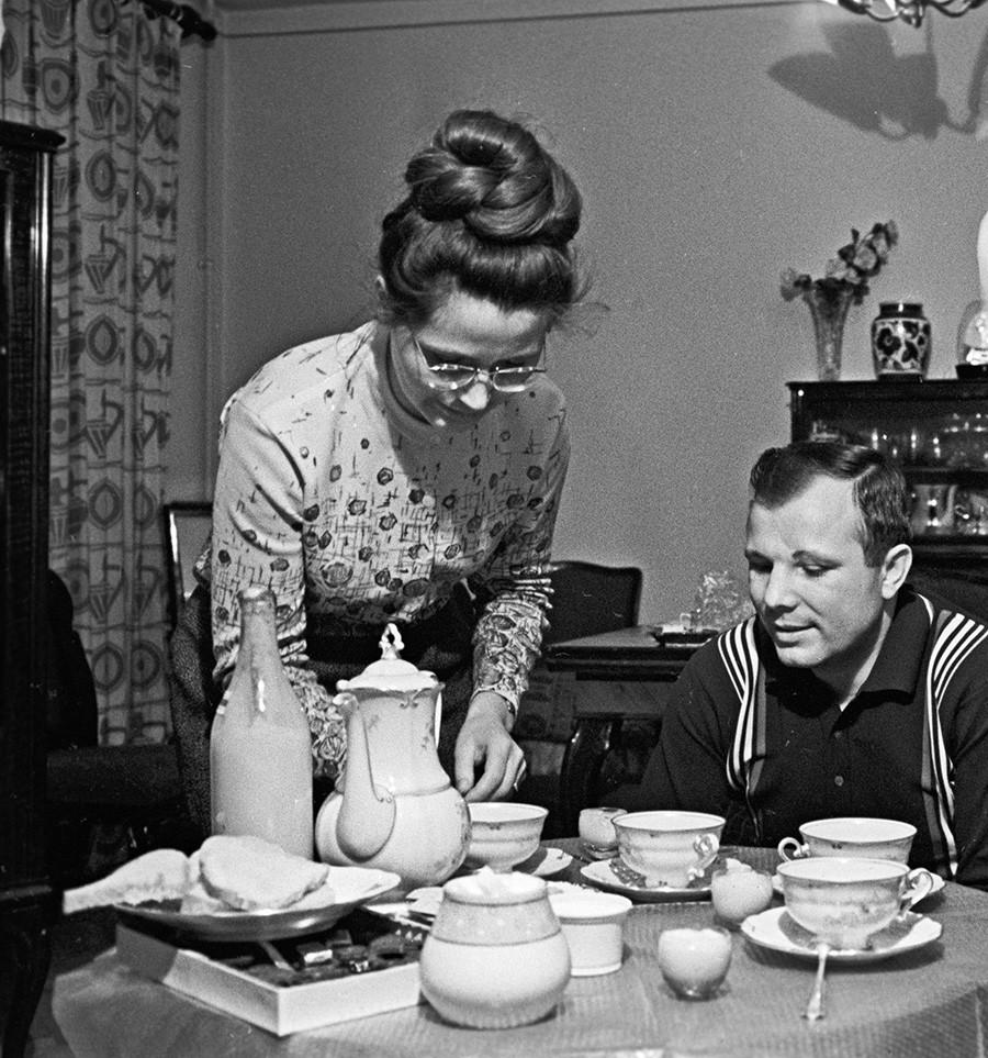 Yuri y Valentina, el 20 de octubre de 1966.