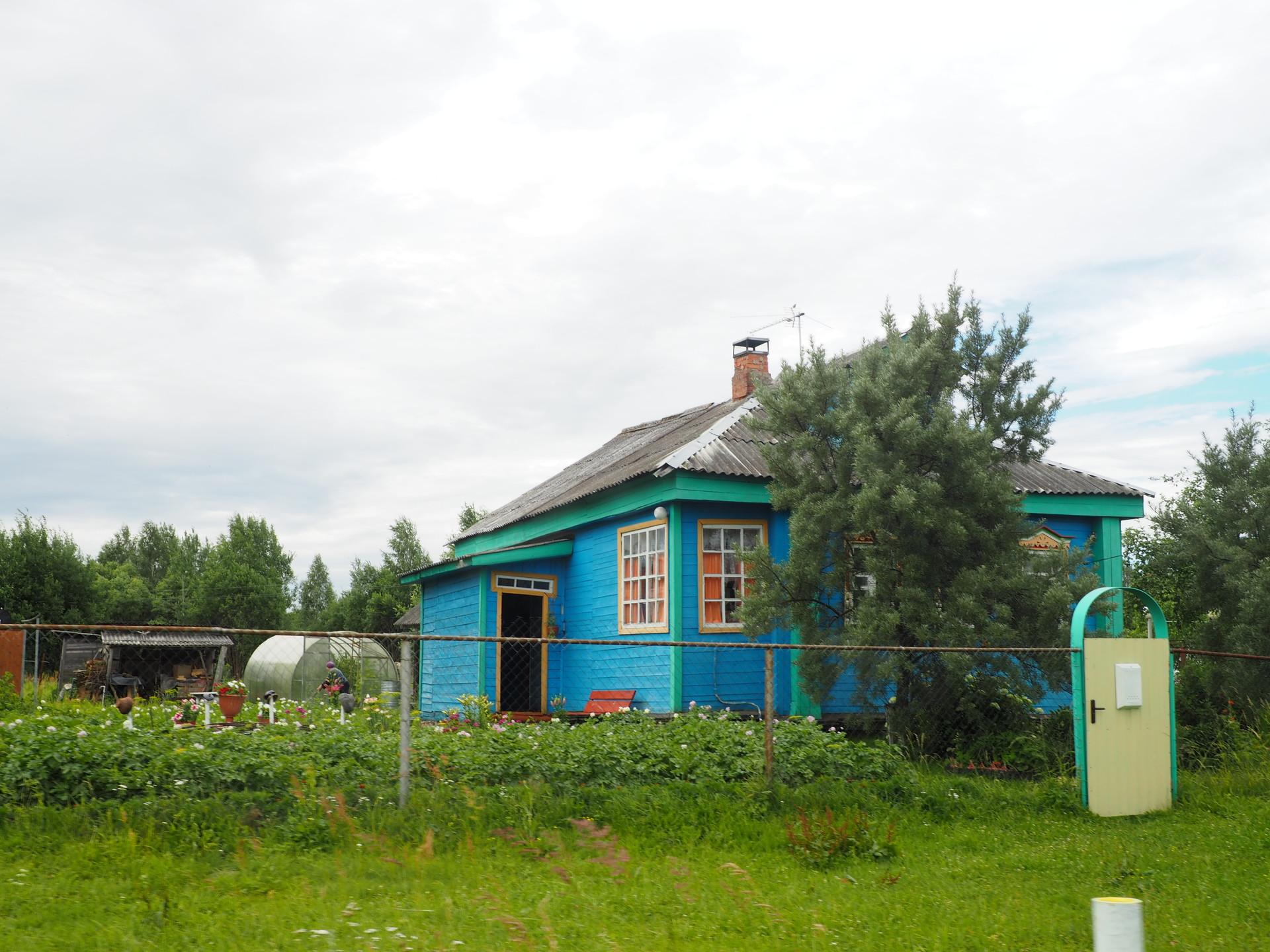 Hiše na območju ekoloških posesti Dobra Zemlja