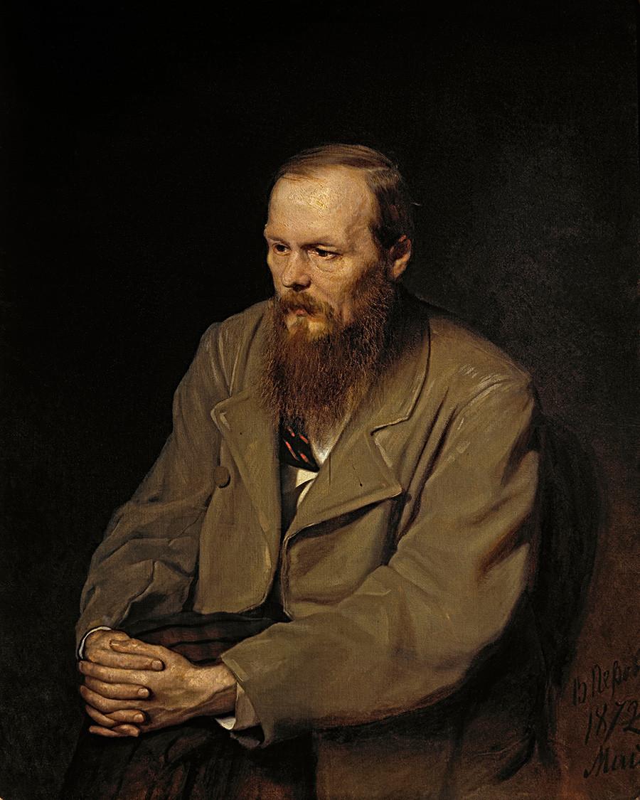 Fiódor Dostoievski. Retrato de Vasili Peróv