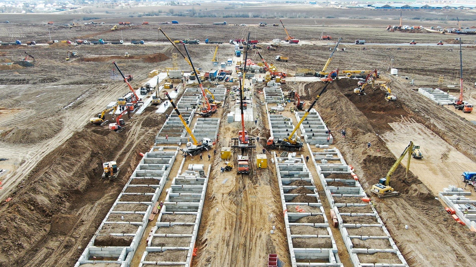 Gradnja novega bolnišničnega kompleksa v Moskvi