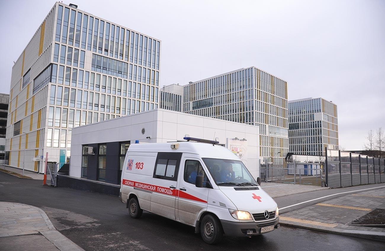 Болницата во населбата Комунарка во која се сместени пациентите за кои се сомнева дека се инфицирани со коронавирус.