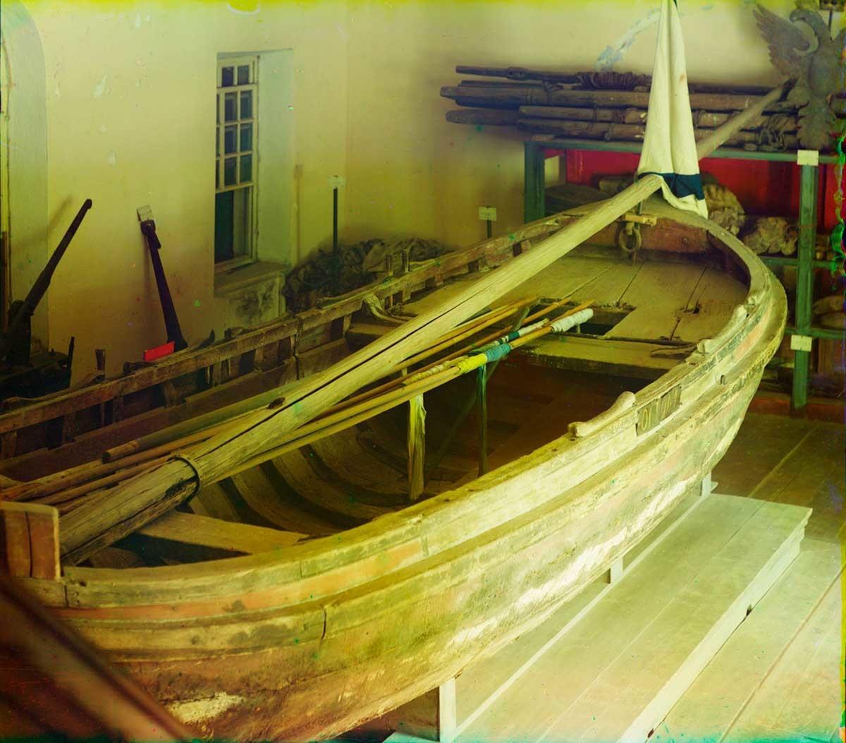 """El barco Fortuna, """"padre de la flota rusa"""". Visto desde la popa. Verano de 1911"""