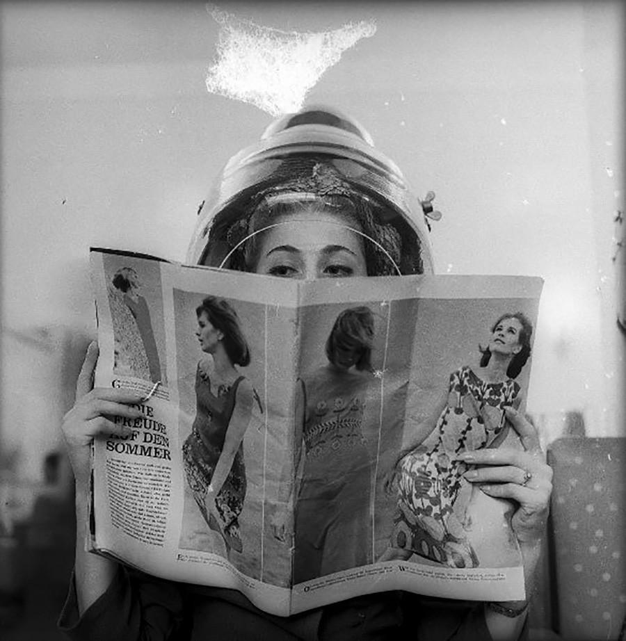 Una peluquería de Tallin, en los años 70