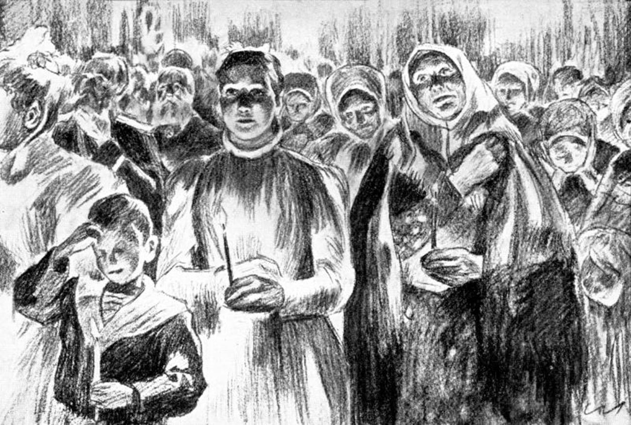 Illustation for 'The Resurrection' by Leo Tolstoy