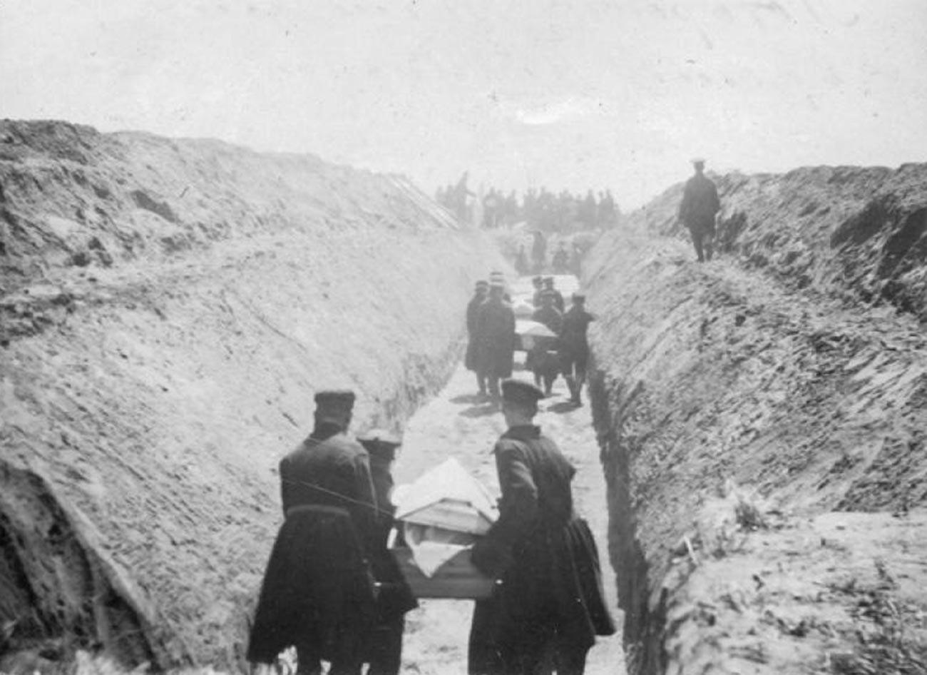 ホドィンカ群集事故の犠牲者の葬儀、1896年