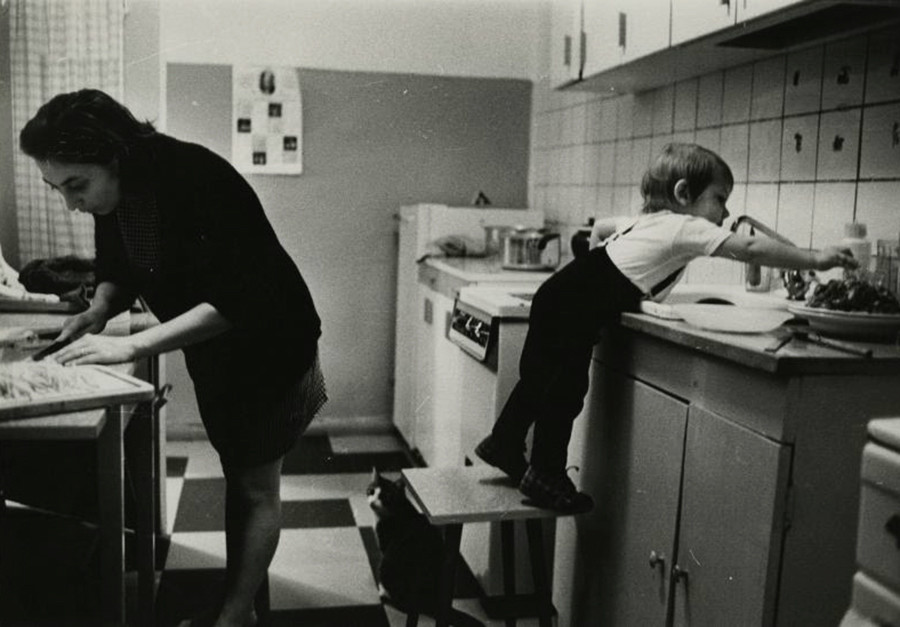 In the kitchen, 1970s