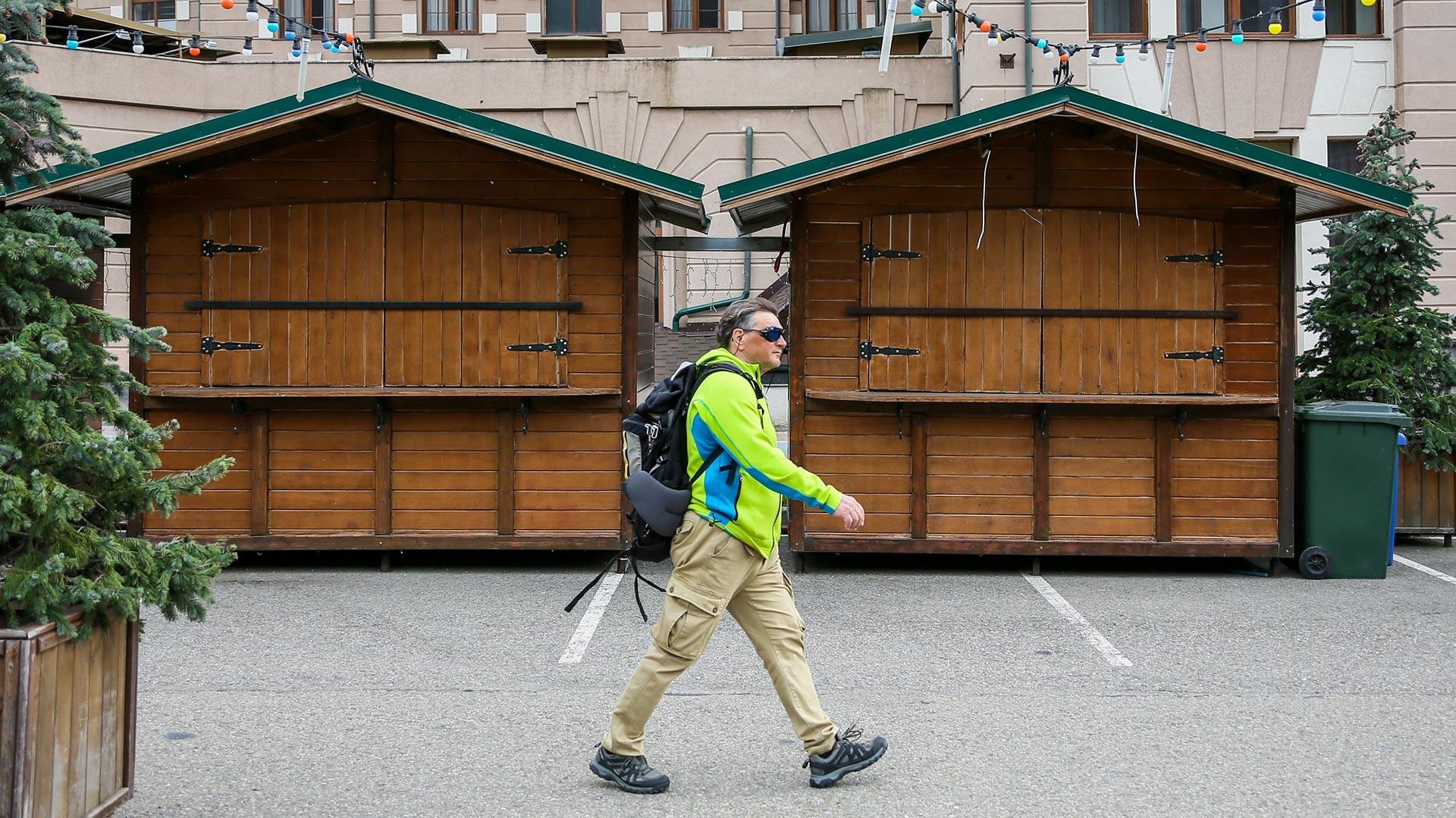 Estação de esqui Krásnaia Poliana não está mais recebendo turistas.