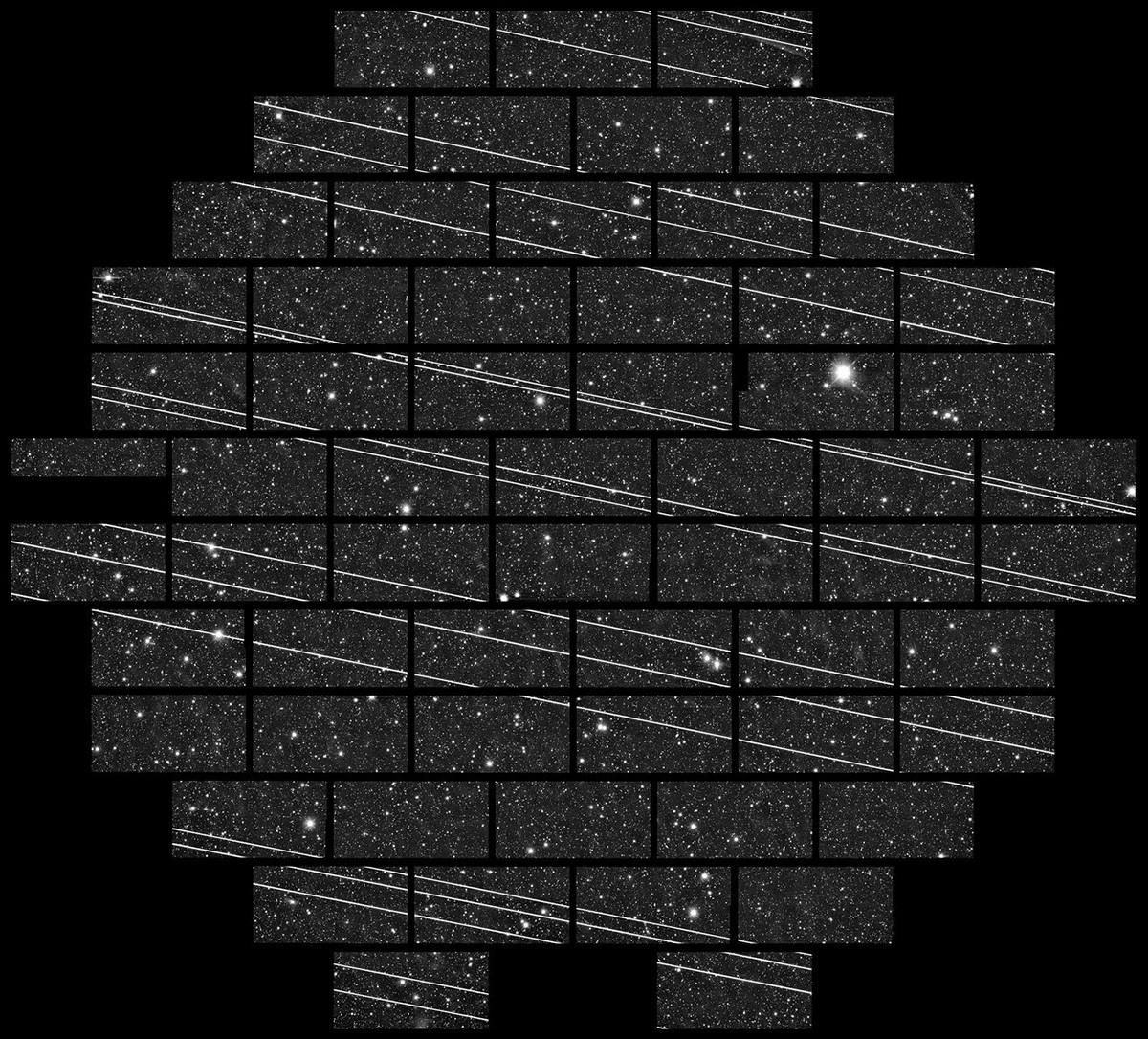 Sateliti Starlink na putu za orbitu za parkiranje.