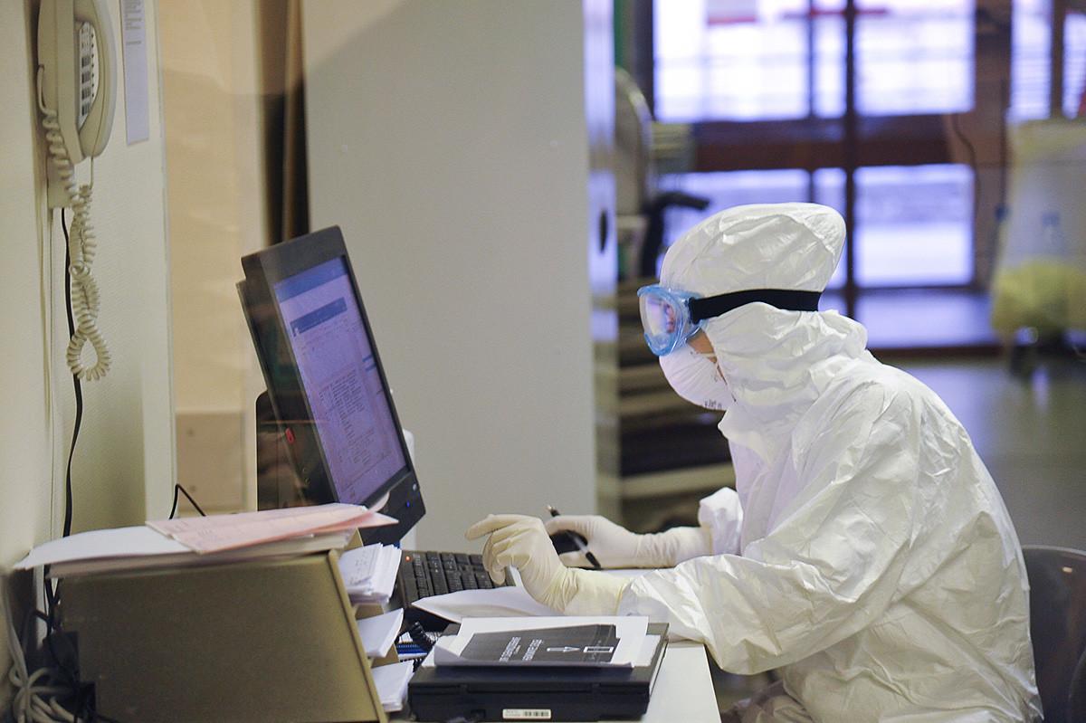 Edificio del Instituto de Investigación Sklifosovski de Medicina de Emergencia para pacientes con sospecha de sufrir coronavirus