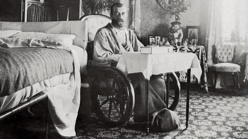 Emperor Nicholas II recovering from typhoid fever in Crimea