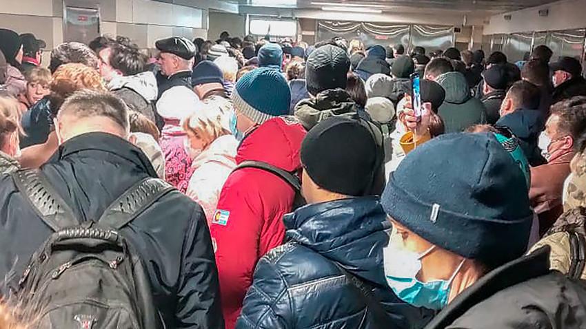 Uvedba elektronskih dovolilnic v moskovskem metroju v času režima samoizolacije
