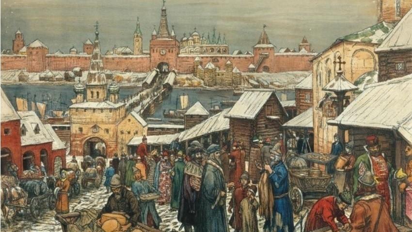 Apolinarij Vasnecov, Trgovanje v Novgorodu