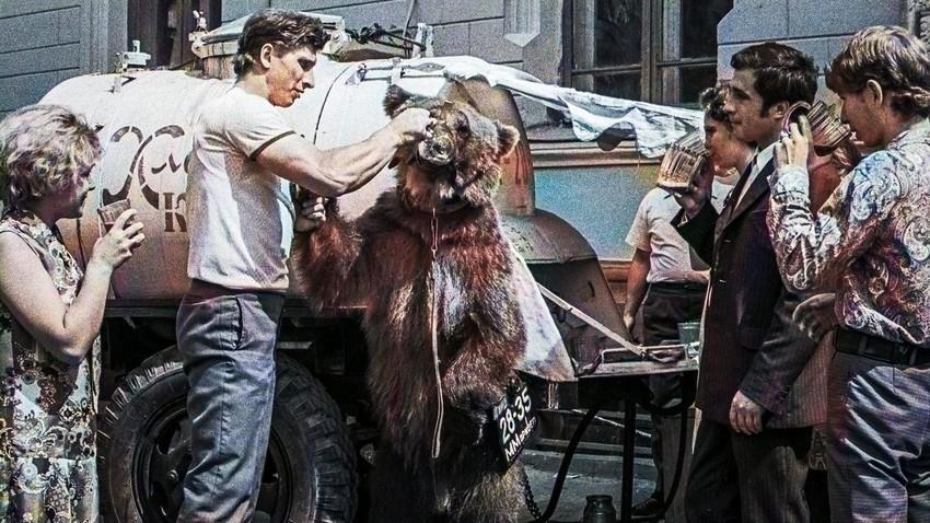 Во время угощения медведя Демы хлебным квасом