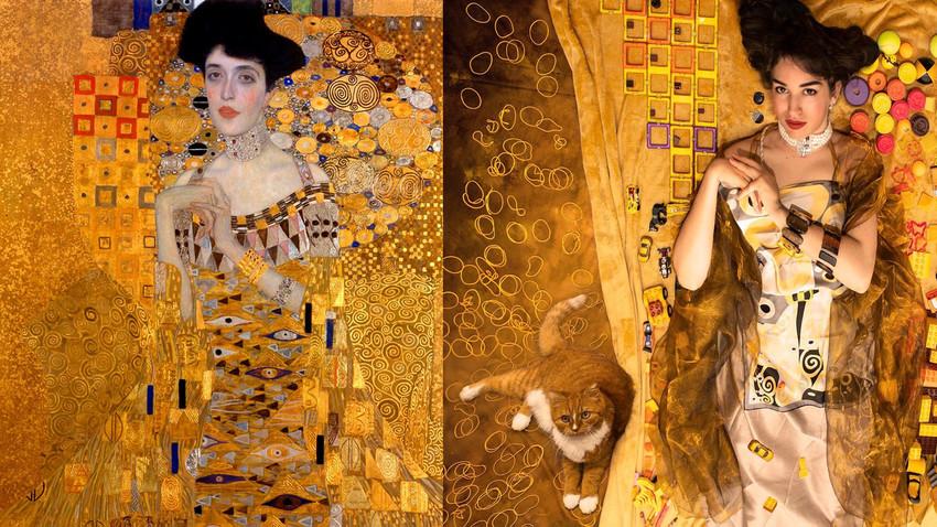 "Gustav Klimt ""Portret of Adele Bloch-Bauer I"""