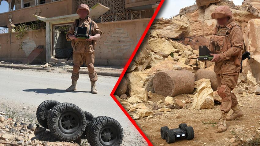 """Роботизовани комплекс """"Скарабеј"""" током борбене експлоатације у Сирији"""