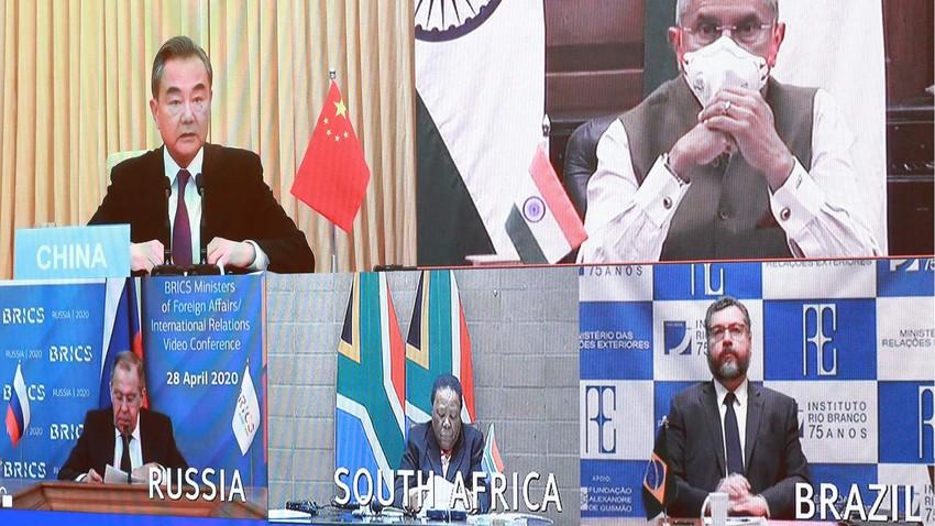 Em videoconferência, ministros das Relações Exteriores do Brics  trataram da recuperação econômica pós-coronavírus.