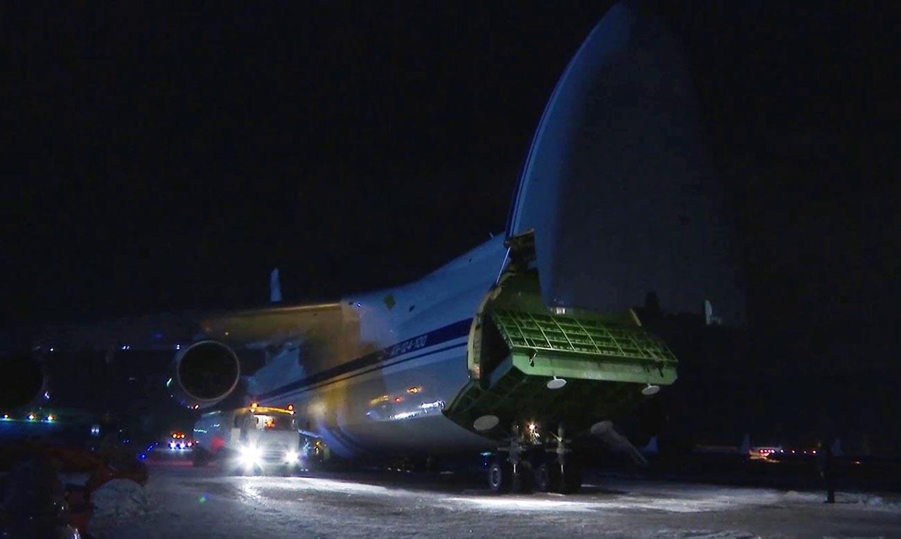 Avião de transporte do Ministério da Defesa levou equipamento aos EUA.