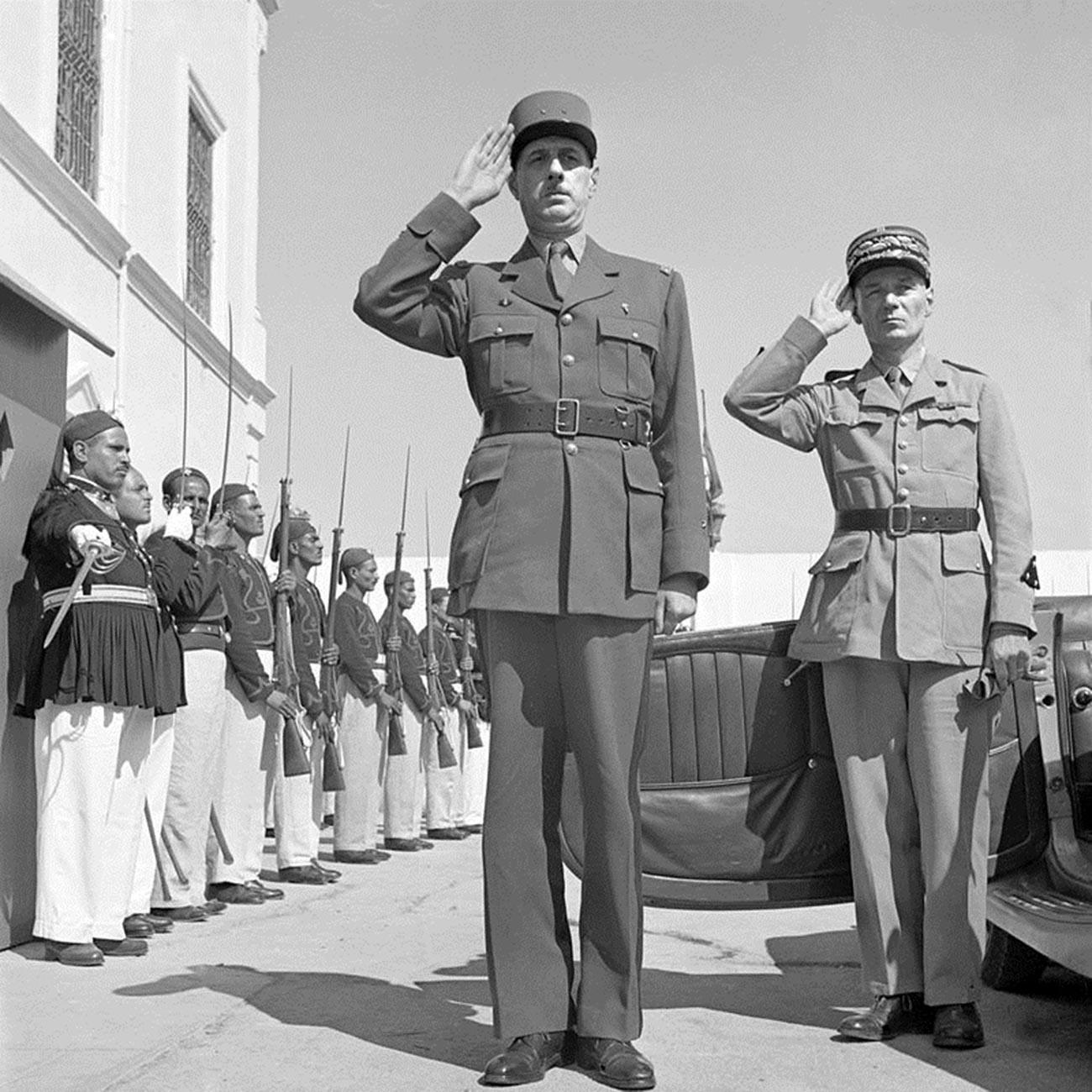 Charles de Gaulle in Tunisia in 1943.