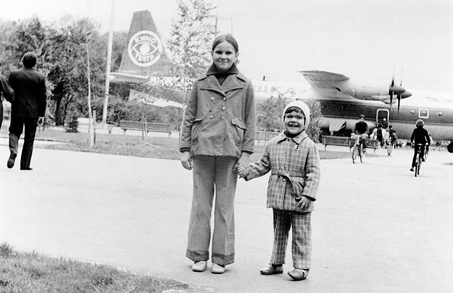 "Ein ""Antoschka""-Kino in Kuibyschew, 1978."