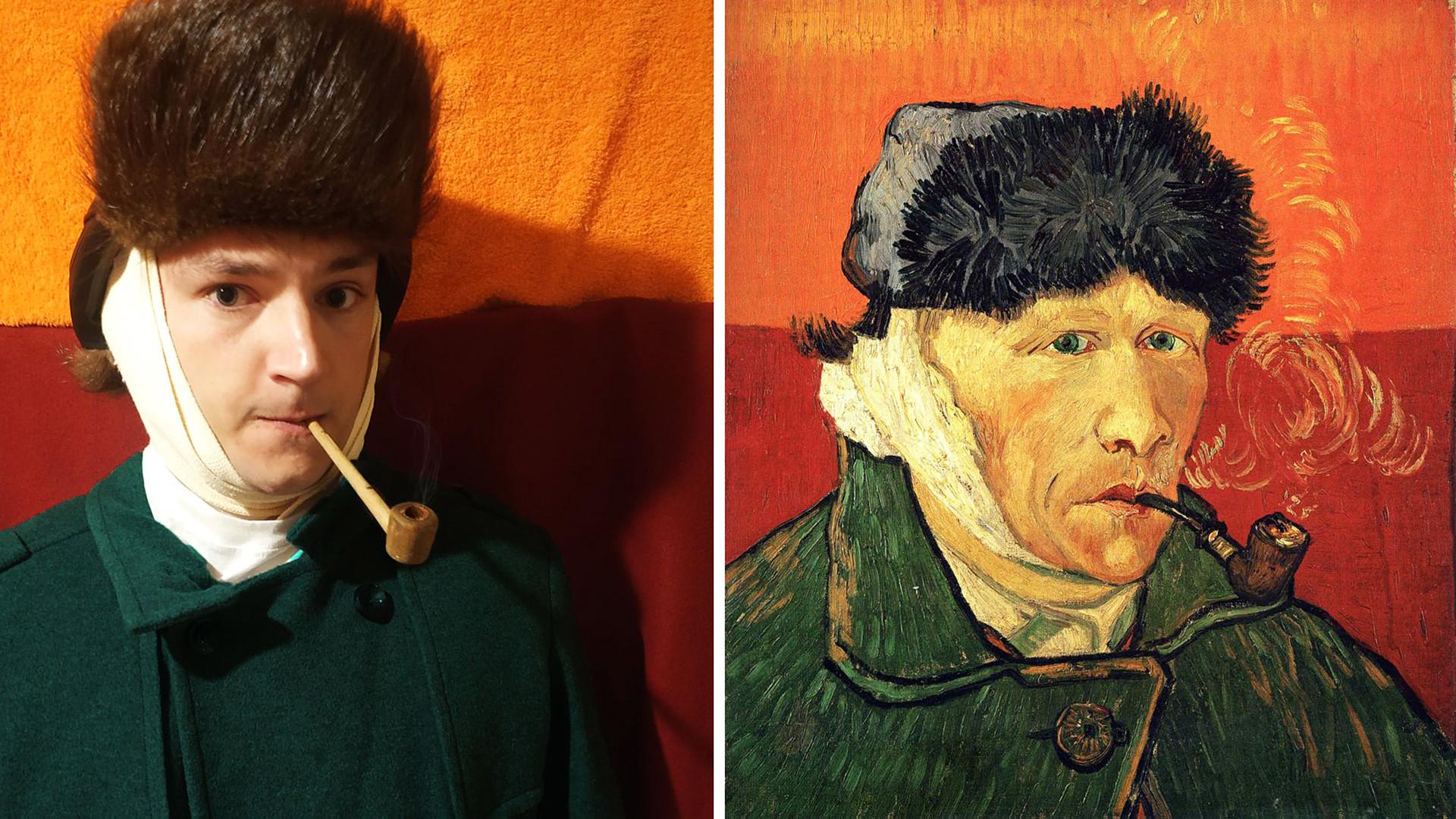 Autoportrait à l'oreille bandée, Vincent Van Gogh