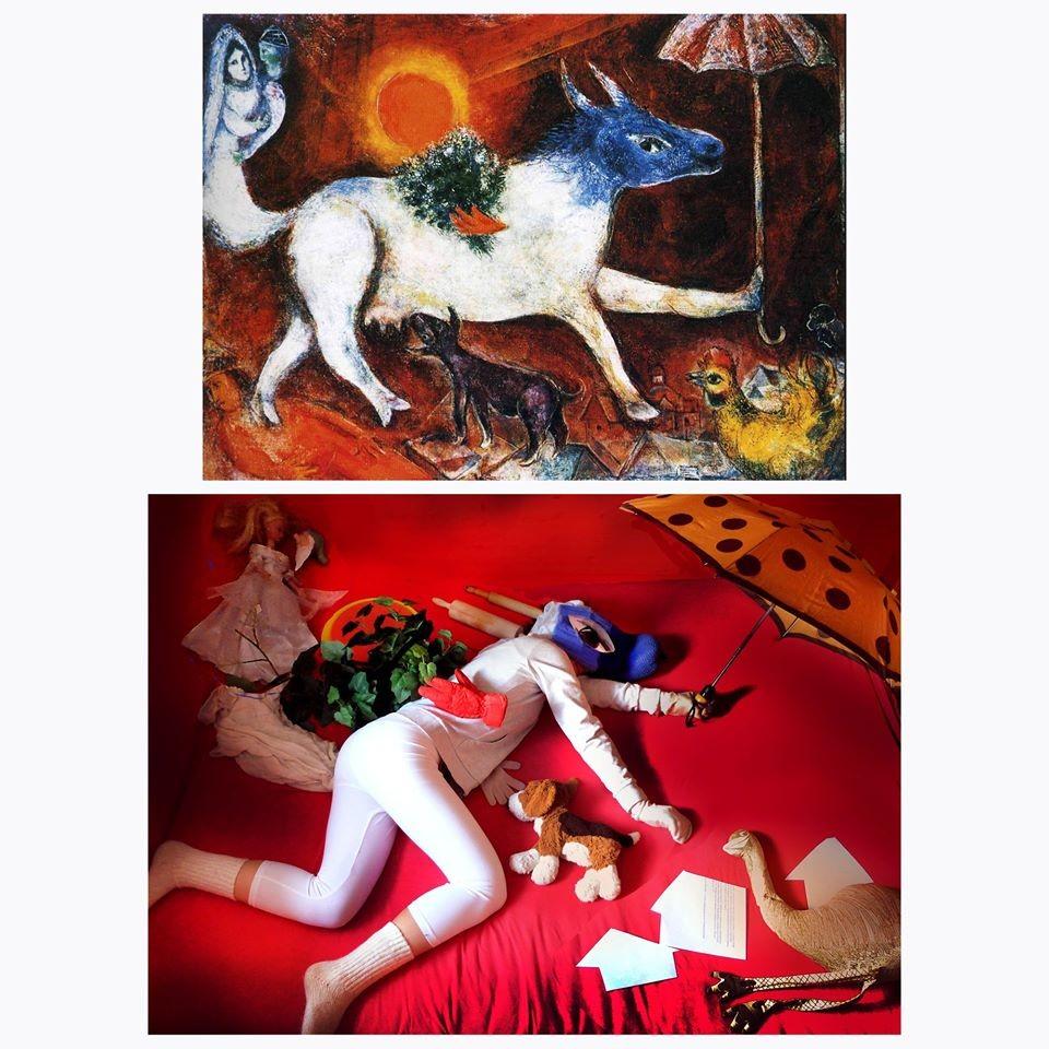 La vache au parasol, Marc Chagall