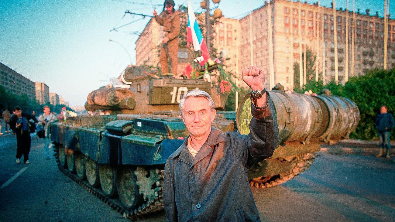 I carri armati per le strade di Mosca, agosto 1991