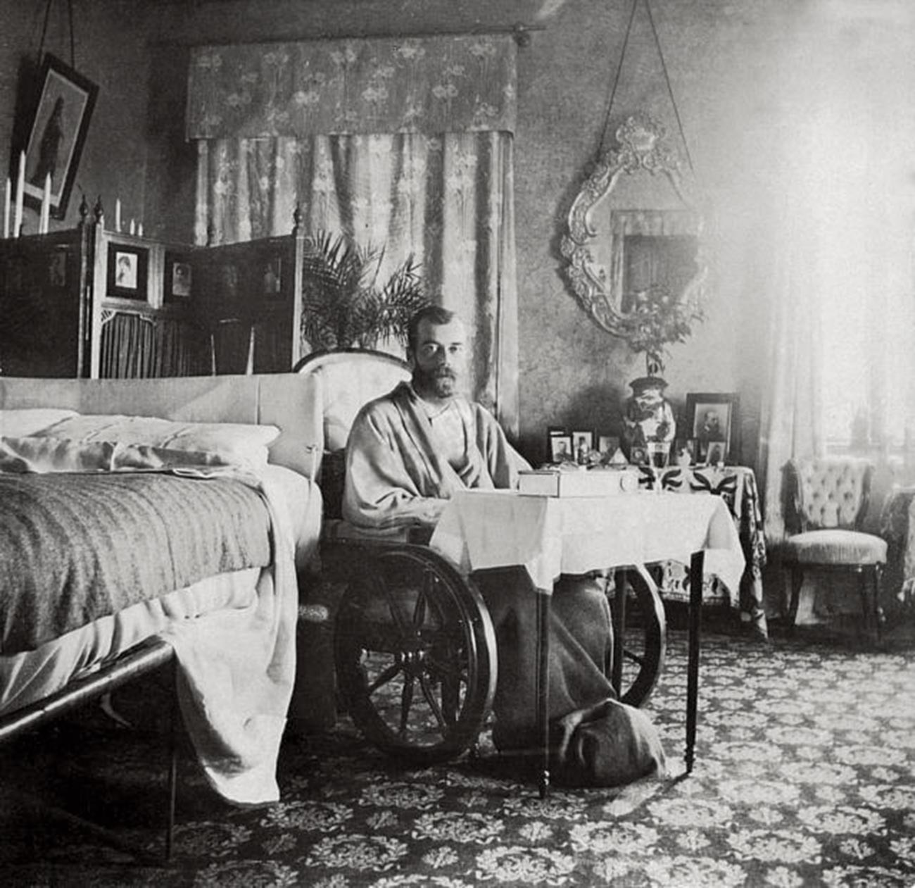 Nicholas II recovering from the typhoid fever in Crimea