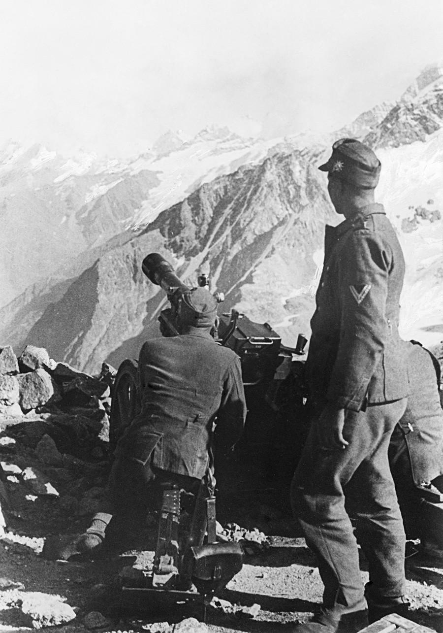Првата брдска стрелечка дивизија на Вермахтот на Кавказ. Русија, Втора светска војна.