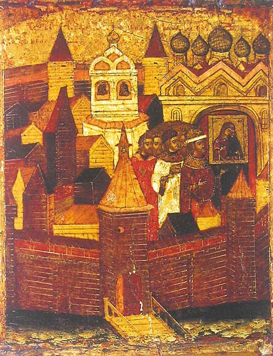 Cortège religieux durant l'épidémie de peste de 1654