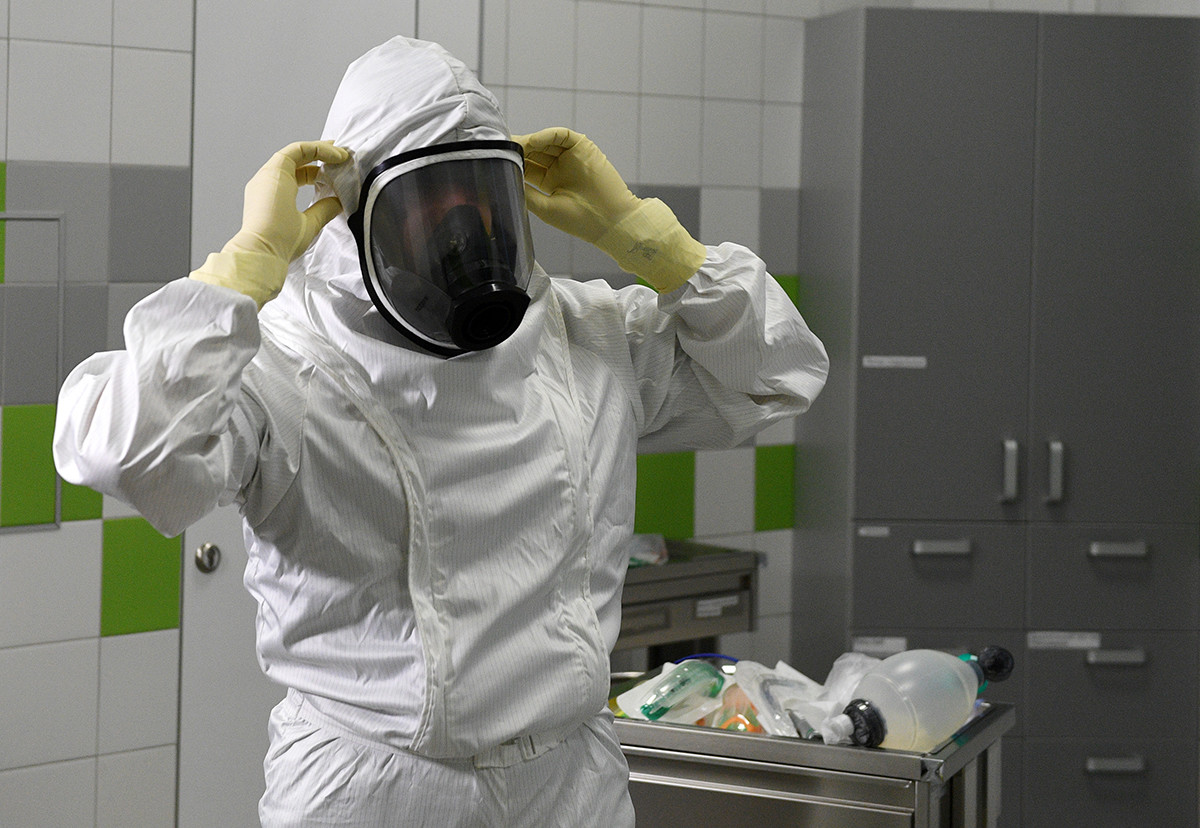 Anti-plague suit, the Moscow Region.
