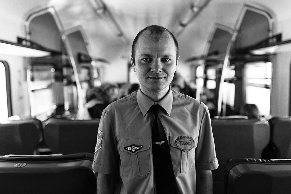 Maxim Kalennik, Reporter des Fernsehsenders Rossija (Wladiwostok) und Pressesprecher der Eisenbahngesellschaft Express Primorje