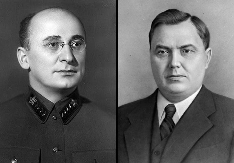 Lavrênti Béria e Gueórgui Malenkóv.