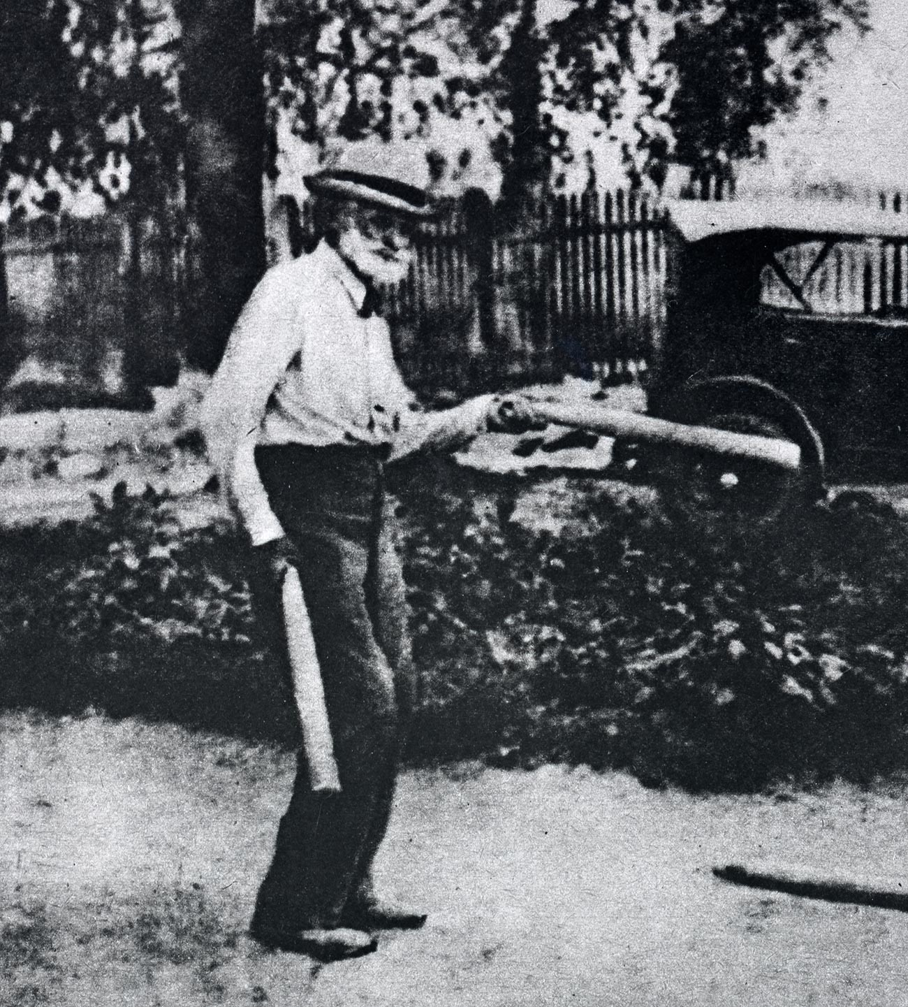 Академик И.П. Павлов во время игры в городки.
