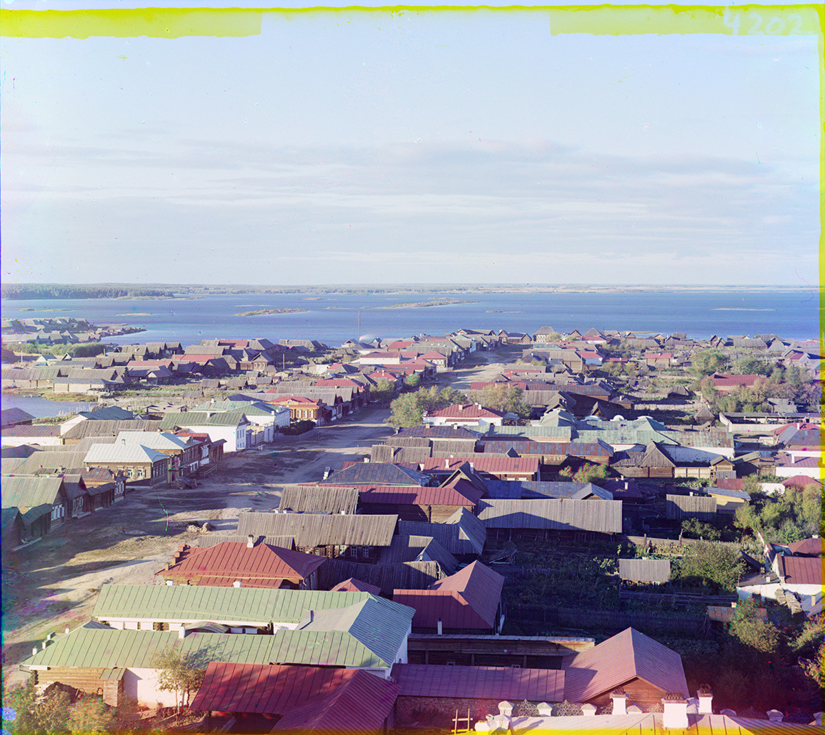 Kasli. View north with Large Kasli Lake. Summer 1909