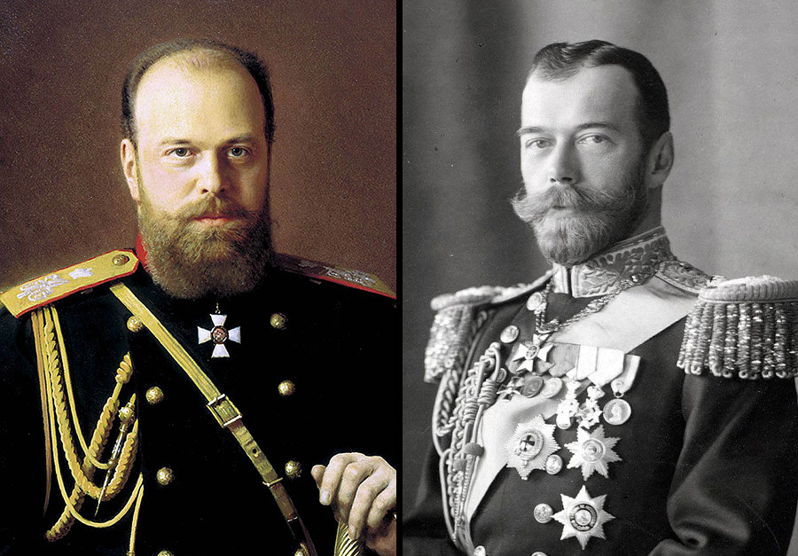 Da sinistra: Alessandro III e Nicola II