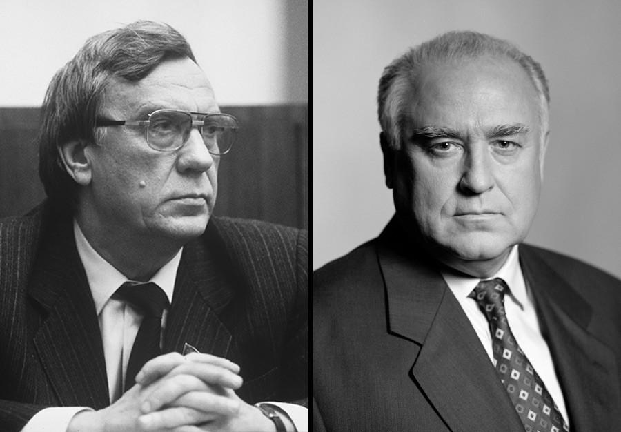 Guennadi Ianaïev et Viktor Tchernomyrdine