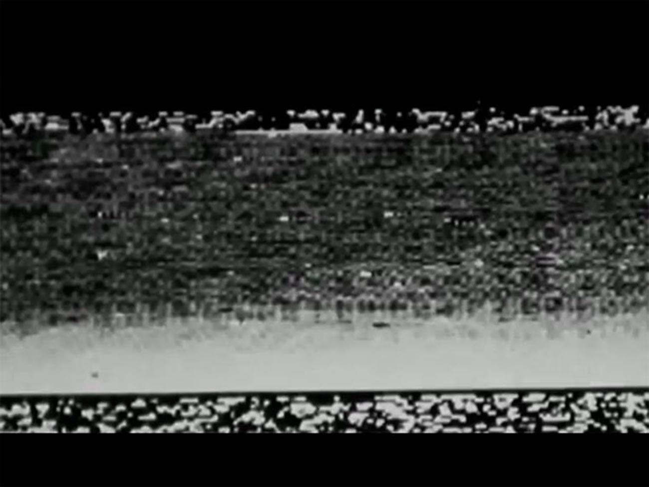 Image transmise depuis la surface de Mars par la station soviétique
