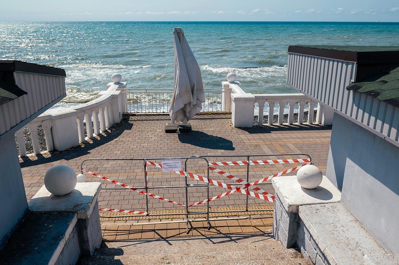 Преграден излез на брегот на Црно море.
