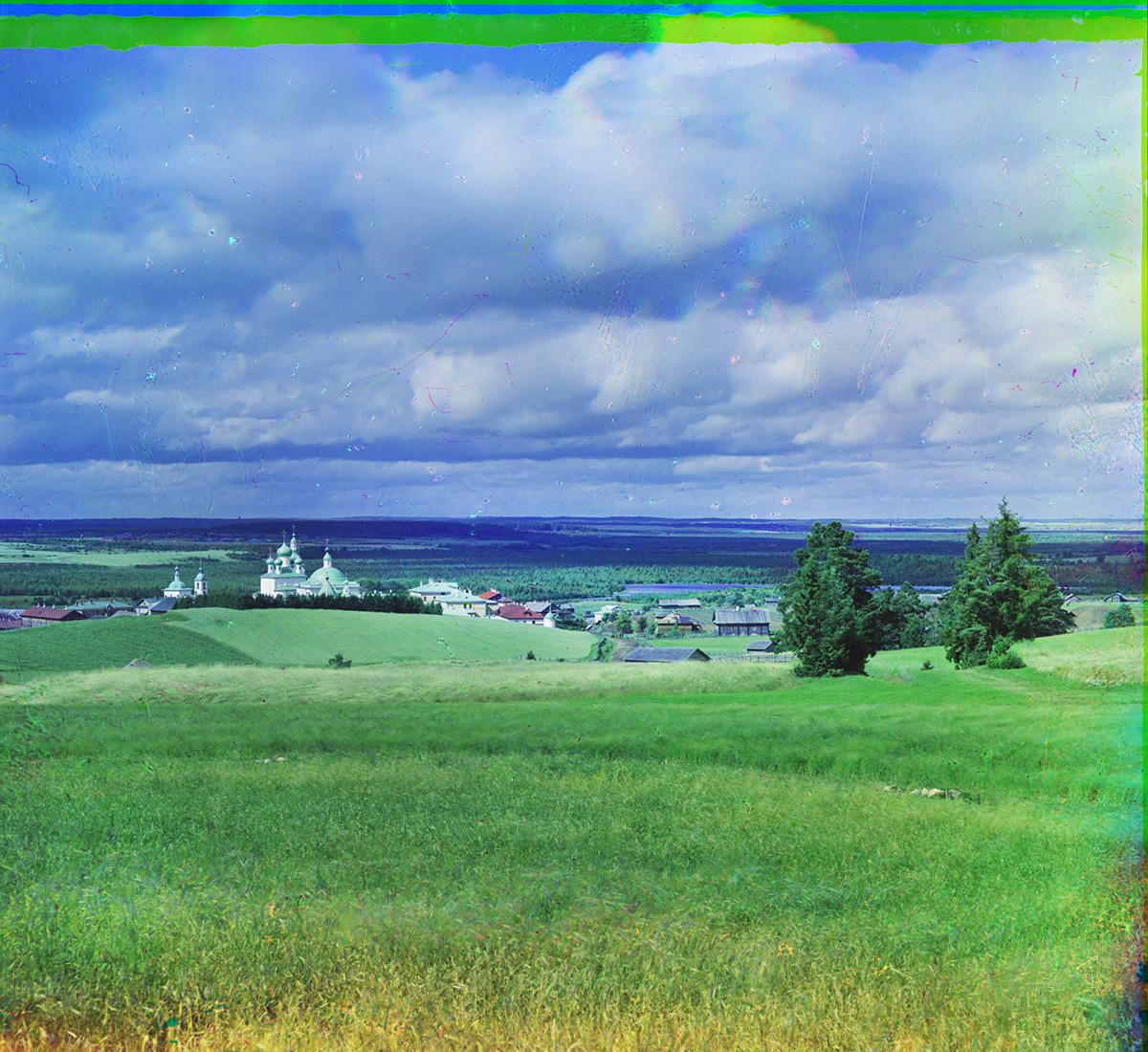 Convento de la Resurrección. Vista noroeste desde la colina de Maurova. Verano de 1909.