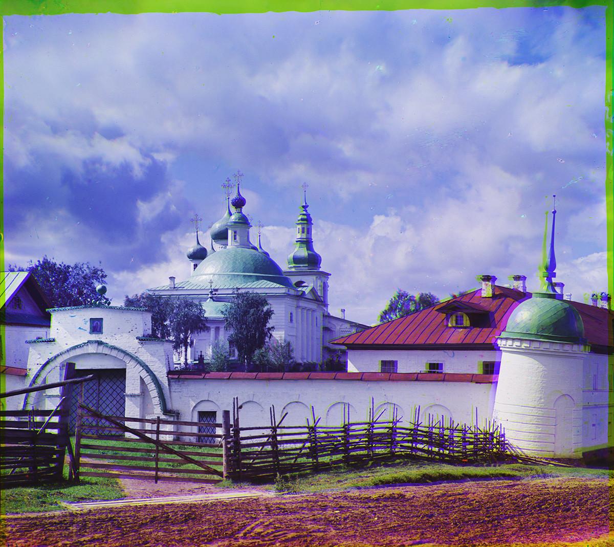 Convento de la Resurrección, vista este. Muralla este y Puerta Santa, Catedral de la Trinidad. Verano de 1909