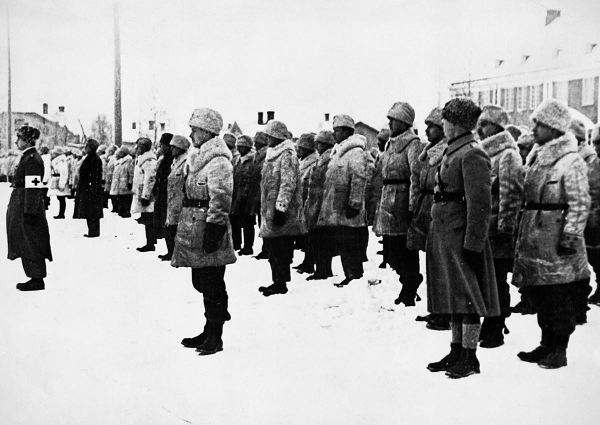 Шведские добровольцы в Финляндии в 1940 году.