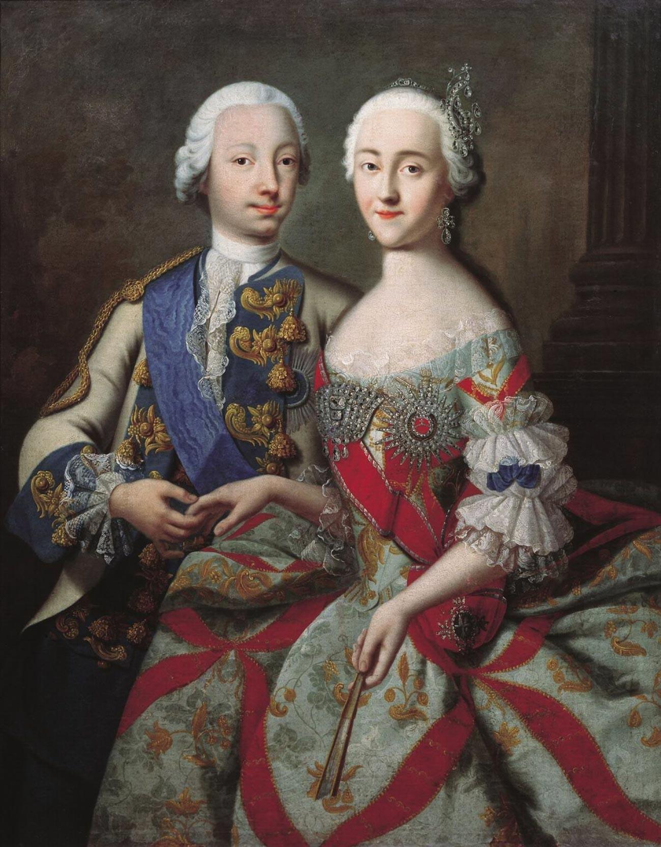 Петър III и Екатерина II
