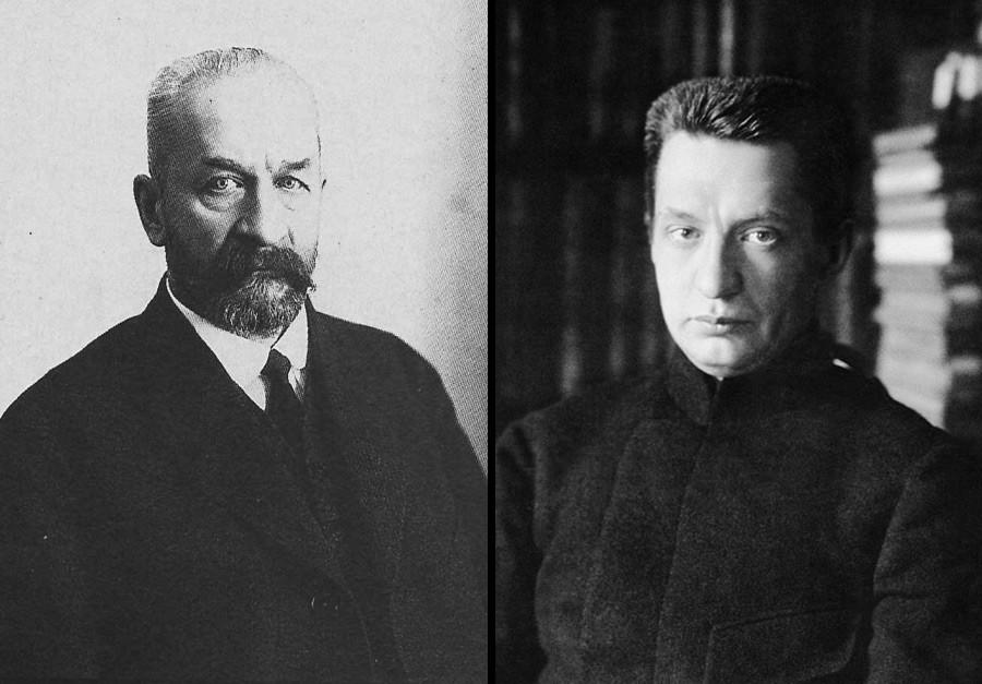 Georgy Lvov (kiri) dan Aleksandr Kerensky.