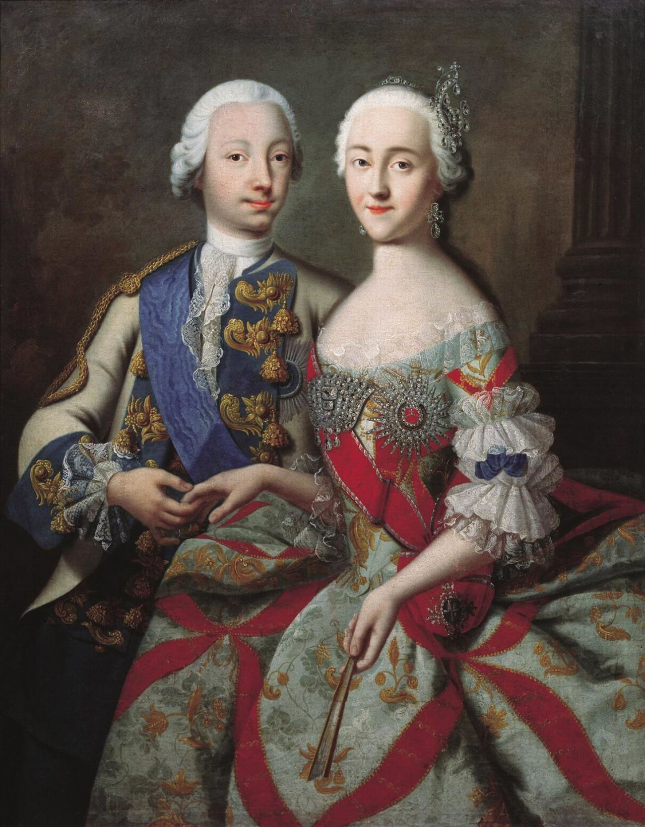 Peter and Catherine as Grand Dukes, before Peter became the Russian Emperor