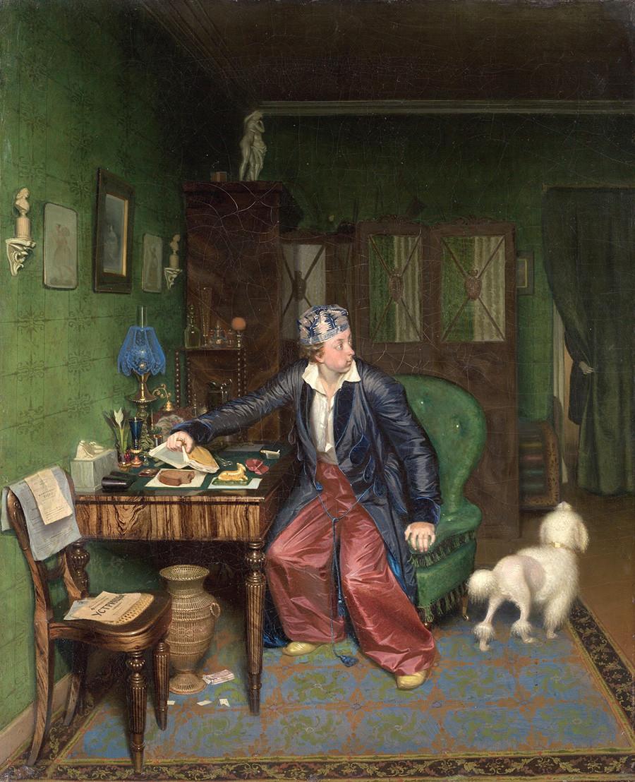 """""""Појадок на аристократ"""", Павел Федотов, 1849-1850."""
