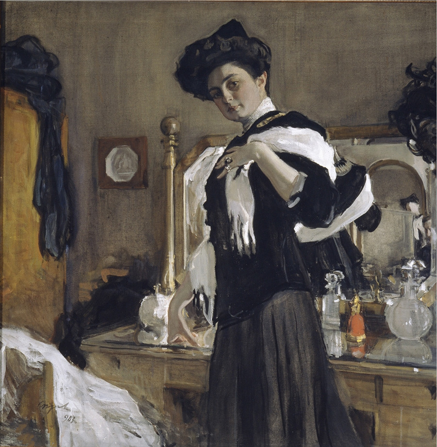 """Портрет на Г.Л. Гиршман"", Валентин Серов, 1907."