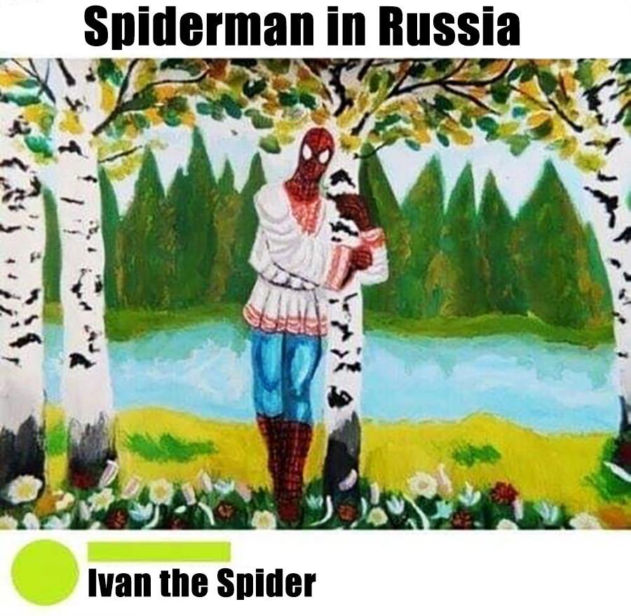 Spiderman en Russie