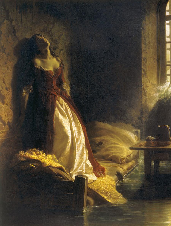 コンスタンチン・フラヴィツキー『洪水時のペトロパブロフスク要塞の公女タラカノワ』(1864年)