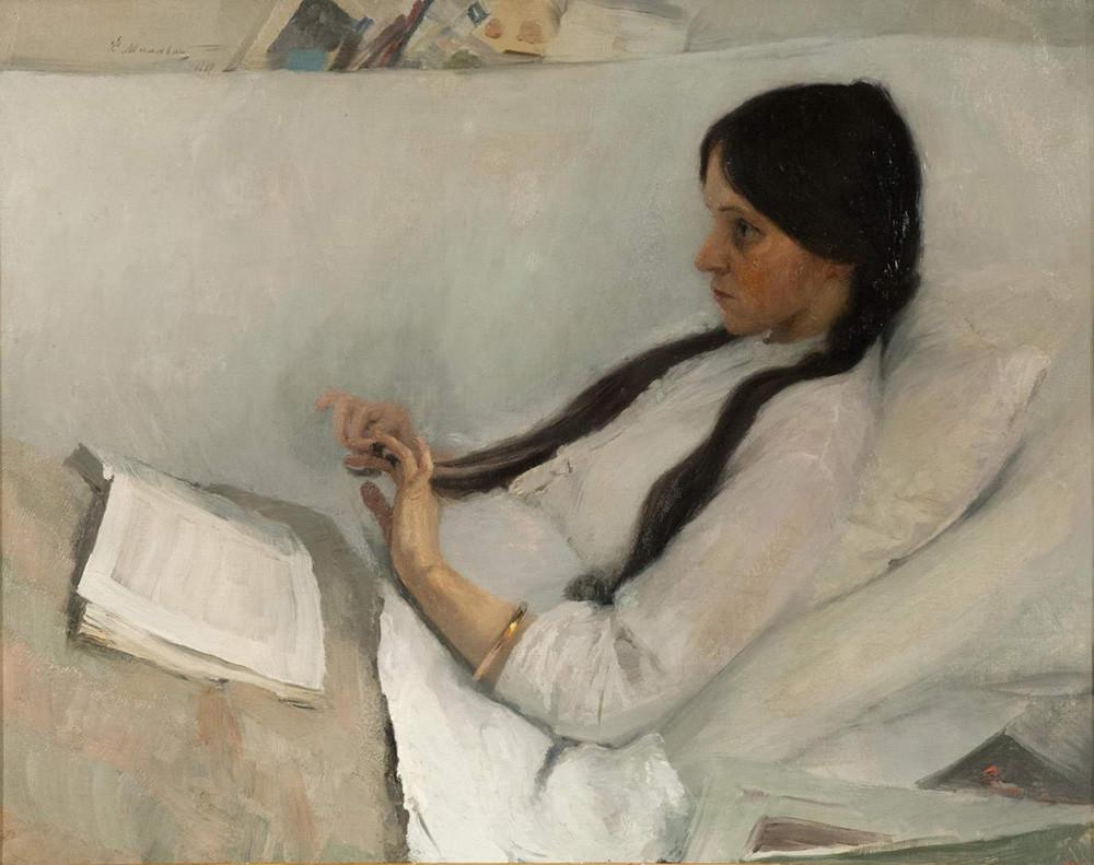 フィリップ・マリャーヴィン『E・M・マルトィノワの肖像』(1897年)