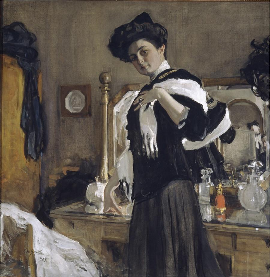 ワレンチン・セローフ『G・L・ギルシュマンの肖像』(1907年)